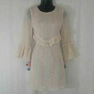 ZARA Trafaluc Collection Cream Dress Size XS